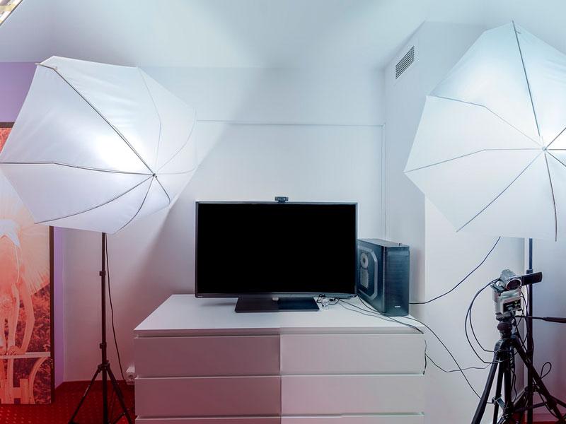 Prepararte para un show webcam